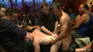 Hung Ripped Stud Used in Crowded Bar
