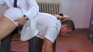 Head Boy Spanking Featuring Dan and JB Spanks