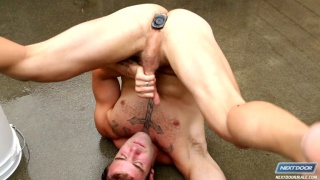 Christian Cayden Outdoor Dildo Fucking
