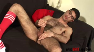 Dark, Hairy, Horny Lad Cums Loads