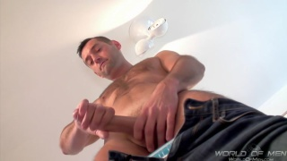 Jacking His Long Cock