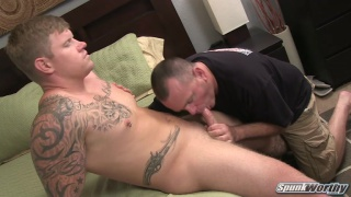 Meaty hunk gets blown and rimmed