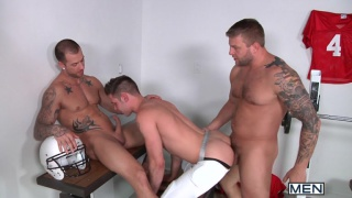 Colby Jansen, Duncan Black & Rod Daily in Football Fuck Down 2