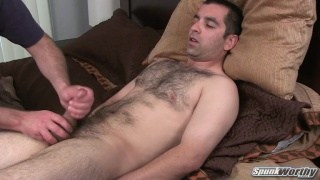 Hairy Vince returns for a handjob