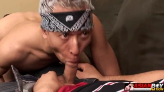 Latino Fucks Asian Twink Bottom