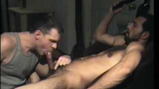 Hairy Guy's After Work Blowjob