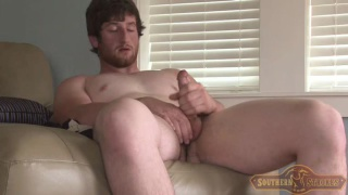 Bearded Redhead Guy Jacking Off