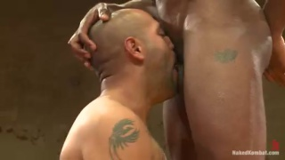 Naked Wrestling - Leo Forte vs Race Cooper