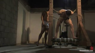 bodybuilder tied up