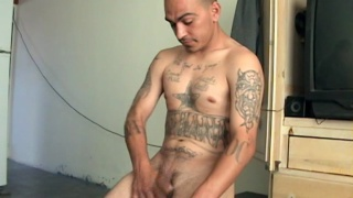 Uncut Tattooed Latino