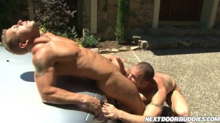 Gay Cock Sucking Carwash 2