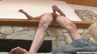 College Student Jerks his Hard Dick  2