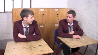 twinks James and Aiden have sex in detention