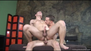 Giving Him Hard College Cock