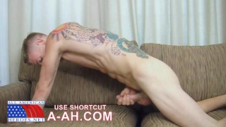 Corporal Adhem plays with cock