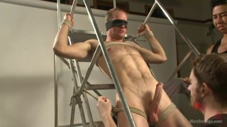 Straight Stud's Cock Milked of Multiple Loads