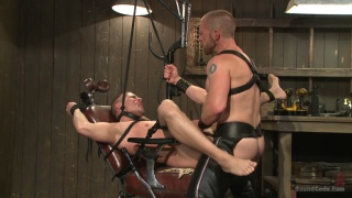 Helpless Hung Stud's Dungeon Ordeal
