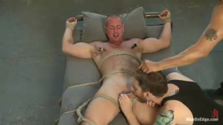 Straight Bodybuilder Gets Cock Edged
