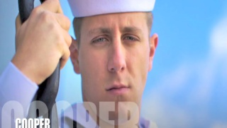 Cooper in and out of Naval uniform