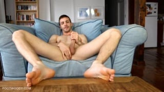 French Canadian Hunk with big feet