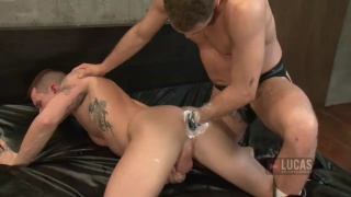 Alessandro Master pisses and fists Tate Ryder