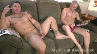 Nick and Brennan Naked Bromance Jerkoff