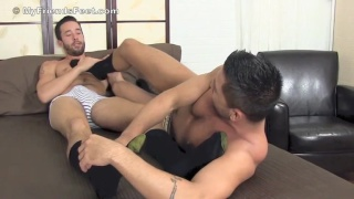 Isaac Hardy and Dominic Pacifico foot worship