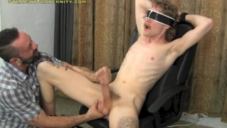 Ivan blindfolded and blown