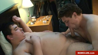 Spanish chubby straight trucker and his fuck buddy