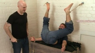 Darren gets flogged, ass fingered and CBT