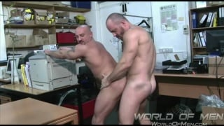 Carlo Cox and Luca Falcini at world of men