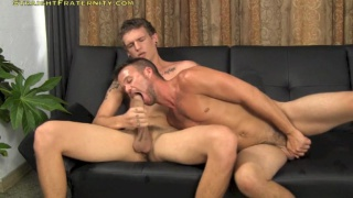 tall hung dude gets blowjob