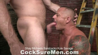 Kyle Savage and Shay Michaels bareback