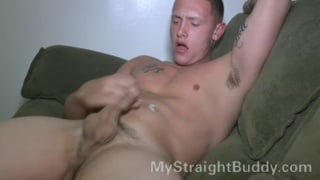 young US marine busts his load