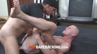 Blue Bailey and Mark bareback fucking
