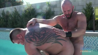 Carlo Cox and Marc Angelo fuck in the tub