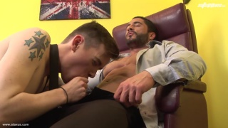 Robin Sanchez and Tristan Wood at staxus