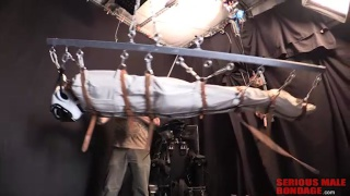 Master X puts slave to the test with extreme bondage