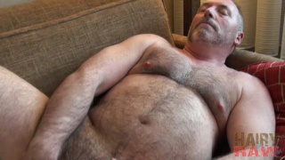 bear with big belly masturbating in cheap motel