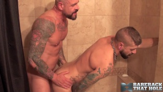 Rocco Steele bare fukcs Jon Shield with his 10x7