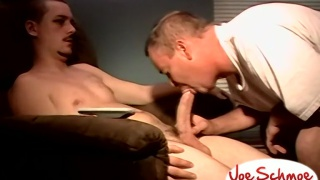 Cute uncut boy Brian gets sucked off