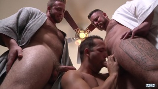 my two daddies starring Aaron Bruiser, Charlie Harding and Luke Adams