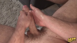 beautiful stud davis strokes his long cock