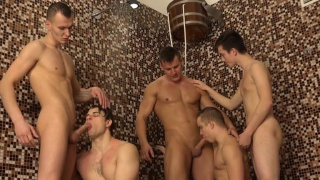 5 Euro boys showering in Wank Party 2015, Part 1