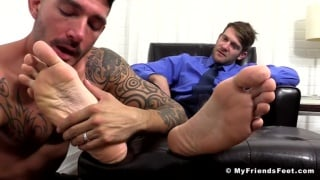 Colby Keller and Johnny Hazzard Worship Each Others Feet