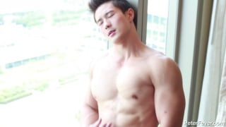 asian hunk jacking off in City Suite