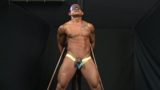 asian guy jay bound and stripped