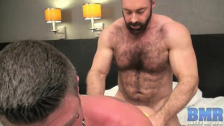 hairy brute makes this bottom his man whore