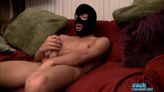 Masked Boy Sean Jacks his cock