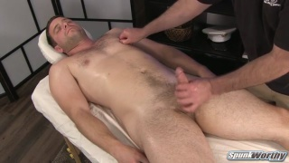ex-navy hunk gets a happy-ending massage